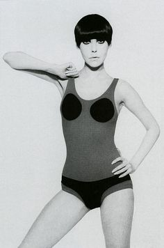 Just got turned on to Rudi Gernreich who was apparently really into unisex hairless looks and invented the thong bathing suit. He is also the inventor of the monokini, the pubikini, and red pepper soup! What a guy! Thanks Antoinette! See zillions of pics in The Rudi Gernreich Book.