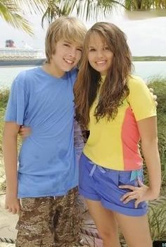 Cole Sprouse & Debby Ryan they look too small yet adorable