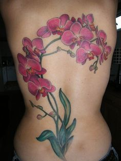 Awesome orchid tattoo