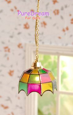 3V LED Ceiling Lamp Mosaic Light For Dollhouse Miniatures