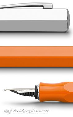 Faber-Castell - Ondoro/orange. http://www.faber-castell.ca/49020/Products/News/News-Design/fcv2_index.aspx
