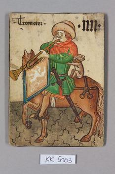 "Trompeter [Trumpeter] Böhmen [Bohemia], ""Hofämterspiel"" für König Ladislaus ""Postumus"", c. 1455"