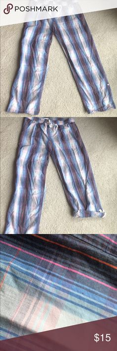 Gap Body Cotton Sleep Pants Plaid cotton is very comfy!  These can be worn rolled up or down.  Drawstring waist adjusts for even more comfort! GAP Intimates & Sleepwear Pajamas