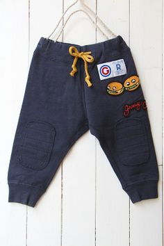 BURGERS fleece sweat pants / navy (4) - 100% picnic.