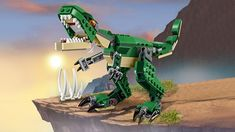 LEGO Creator Mighty Dinosaurs 31058 Build It Yourself Dinosaur Set, Create a Pterodactyl, Triceratops and T Rex Toy Pieces) Toy Race Track, T Rex Toys, Dinosaur Toys, Dinosaurs, Airplane Toys, 3 Year Olds, Lego Creator, Top Toys, Train Car