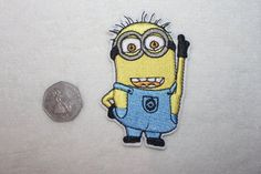 minion iron on patch embelishment novelty adult and child applique transfer