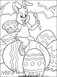 coloriage de Pâques