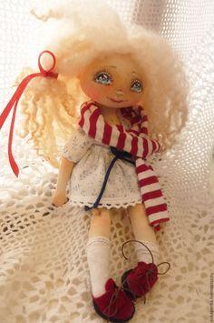 Купить Текстильная кукла. Для Тани. - белый, синий, красный цвет, кукла ручной работы