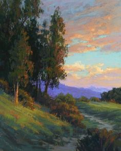 Tender is the Eve by Kim Lordier Pastel ~ 30 x 24
