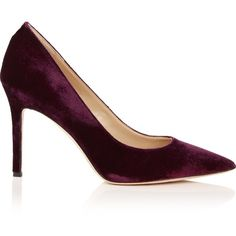 Sam Edelman Hazel Velvet Heels (565 BRL) ❤ liked on Polyvore featuring shoes, bordeaux, high heel shoes, sam edelman pumps, high heel court shoes, velvet pumps and sam edelman
