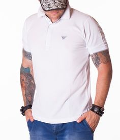 Armani Tricouri Polo - A Jeans tricou polo alb