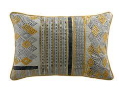 Coussin en coton jaune 40 x 60 cm YAMANE