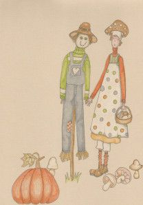 """dessin et coloriage Faber-Castell polychromos  Prismacolor Papier """"paint on"""" Clairefontaine Mrs Pettycoat 4"""