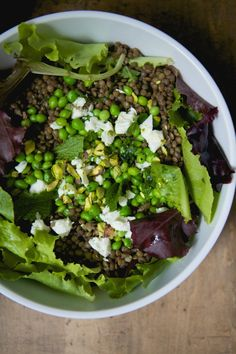 Lentil salad with Spring Pea Recipes