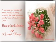 Have A Good Morning & Great Day sister