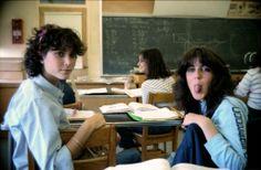 #real #80s #people #high #school #classroom #girls