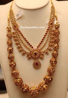 nakshi balls, nakshi balls mala, uncut mango necklace, layered mango necklace, pacchi necklace sets