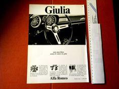 Pubblicità/Advertising 1968 GIULIA  Alfa Romeo #Giulia #AlfaRomeo #Anni60