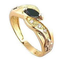 Anel de formatura educação artistica  em ouro 18k 750 Com 6 diamantes de 1 ponto cada e 1 pedra natural no centro
