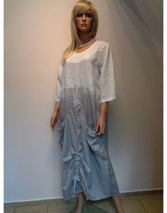 SUKIENKA - LEN  325,00 zł brutto Stan:  Nowy produkt  eleganckie nowoczesne wzornictwo  niepowtarzalna fantazja   kolor biało - szary  rozmiar L