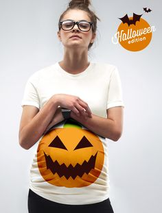 """""""A Pumpkin Bump"""" Halloween Maternity T-Shirt - Limited Edition by Mama   Mamagama Maternity Clothes Online Shop"""
