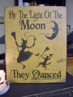 Primitive Handpainted Sign They Danced By by DaisyPatchPrimitives, $10.00
