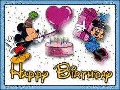 Hb Mickey En Minnie Glitter Photo: This Photo was uploaded by ilona-mariska. Find other Hb Mickey En Minnie Glitter pictures and photos or upload your o. Happy Birthday Mickey Mouse, Birthday Wishes For Kids, Cute Happy Birthday, Birthday Tags, Birthday Blessings, Birthday Wishes Cards, Happy Birthday Quotes, Happy Birthday Images, Birthday Greetings
