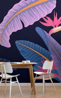 Paradise Wallpaper, World Map Wallpaper, Tropical Wallpaper, Forest Wallpaper, Photo Wallpaper, Wall Wallpaper, Tropical Design, Mural Wall Art, Summer Glow
