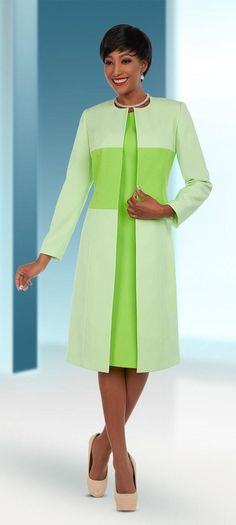 Ben Marc Executive 11693 Womens Business Dress With Duster Style Jacket - Spring 2018 - ExpressURWay Church Dresses For Women, Women Church Suits, Long Jackets For Women, Dress And Jacket Set, Womens Dress Suits, Ankara Dress, African Dress, Kimono, Pantsuits For Women