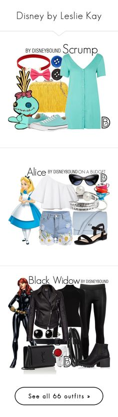 """""""Disney by Leslie Kay"""" by kmadsen051 ❤ liked on Polyvore featuring Corto Moltedo, LULUS, Avalaya, Glamorous, Converse, Forever 21, disney, disneybound, disneycharacter and Disney"""