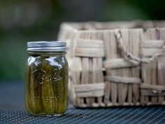 [4 weeks] 2 1/2 lbs pickling cucumbers (about 12 small to medium) 2 cups water 1 cup vinegar (5% acidity) 1/4 cup Ball® Kosher Dill Pickle Mix  2 Ball® Quart (32 oz) Fresh Preserving Jars with lids and bands  Bring mix to a boil Pour over cucumbers in jars.