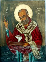 Nicholas - patron saint of sailors - Greek Religious Images, Religious Icons, Religious Art, Byzantine Icons, Byzantine Art, St Columba, St Clare's, Santa Pictures, Religious Paintings