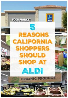 5 Reasons California Shoppers Should Shop at ALDI - Shop Healthy & Save up to 50% compared to similar products sold by competitors. #ad #IC #TasteOfALDI