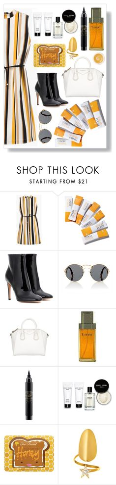 """""""Untitled #172"""" by finderskeeper ❤ liked on Polyvore featuring Chico's, Clinique, Gianvito Rossi, Prada, Givenchy, MAC Cosmetics, Bobbi Brown Cosmetics and Pommade Divine"""