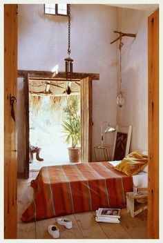 A Spanish Villa in Ibiza is a combination of modern design, rustic rouge and a vintage ficade. We adore the clean lined architecture This beautiful villa Decor, Home, Home Bedroom, Old House, Bedroom Interior, Summer House, House, Interior Design, House Interior
