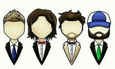 Dean, Sam,Castiel and Bobby