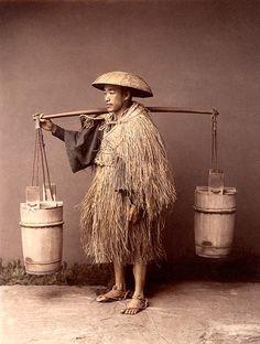 Water carrier, ca. 1885 by Kusakabe Kimbei