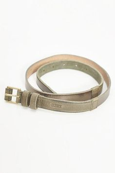 Matte and Metallic Olive Belt--closed