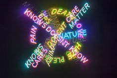 Bruce Nauman, Human nature / Life death / Knows Doesn't Know, 1983. Neon Venice Biennale, Human Nature, Death
