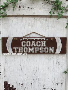 Pallet Wood Football Door/Wall Hanger by DistinctDoorDecor on Etsy
