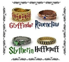 Harry Potter rings....Pottermore put me in Ravenclaw, and I'm loving that ring!