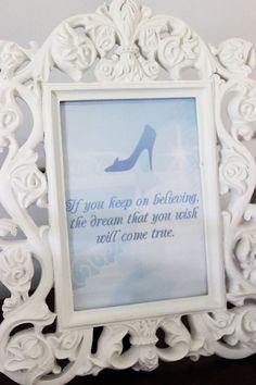 Cinderella party signage from a Princess Cinderella Birthday Party via Kara's Party Ideas | KarasPartyIdeas.com (41)