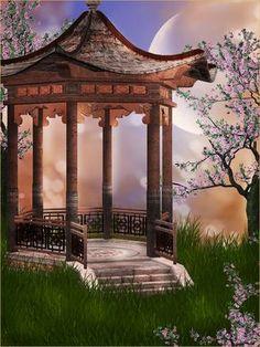 "Photo from album ""Oriental_Fantasy_Backgrounds"" on Yandex. Photography Studio Background, Studio Background Images, Photo Background Images, Art Background, Photography Backdrops, Digital Backgrounds, Photo Backgrounds, Wallpaper Backgrounds, Beautiful Moon"