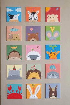 Painting for kids room 1 set (3 painting) for baby shower
