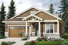 CRAFTSMAN & NORTHWEST STYLE BUNGALOW WITH GARAGE Open floor plan, home office possibility, 3 bedrooms, remarkable master suite, large kitchen island, 2-car garage http://www.drummondhouseplans.com/house-plan-detail/info/westhaven-american-1002988.html