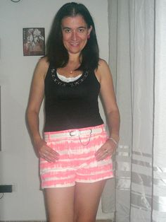 BBCA DAY 9~October 9, 2014 Elegance and Mommyhood.: Striped Shorts once more and Outfit 34.