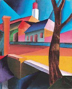 Nagybányai részlet fával, 1931: 4. aukció (1999. tél) 46.tétel Cat Art, Watercolors, Painting, House, Water Colors, Painting Art, Watercolor Paintings, Paintings, Painted Canvas
