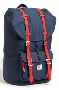 Herschel Supply Co. 'Little America' Backpack Navy/ Red One Size on shopstyle.com