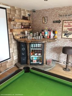 The Dirty Dick Inn, Pub/Entertainment from Top of garden owned by Carl roberts Entertainment ? Home Bar Rooms, Diy Home Bar, Home Pub, Home Bar Decor, Home Bars, Small Bars For Home, Pub Decor, Garage Game Rooms, Game Room Basement