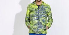 Dirk Bikkembergs CROC Print Jacket  #DirkBikkembergs #FashionJacket